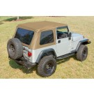 Sailcloth Bowless XHD Soft Top, Spice, 97-06 Jeep Wrangler