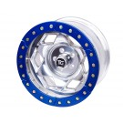 "17"" Aluminum Beadloclk Wheel, JK (5 on 5.00"" w 3.75"" BS), Blue Segmented Ring"