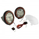 7-Inch Round HID Off Road Light Kit, Black Composite Housing