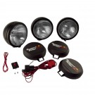 6-Inch Round HID Off Road Fog Light Kit, Black Steel Housing