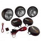 5-Inch Round HID Off Road Fog Light Kit, Black Steel Housing
