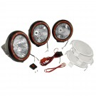 5-Inch Round HID Off Road Light Kit, Black Composite Housing