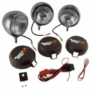 6-Inch Round HID Off Road Fog Light Kit, Stainless Steel Housing