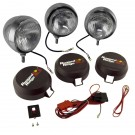 5-Inch Round HID Off Road Fog Light Kit, Stainless Steel Housing