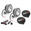 6-Inch Halogen Light Kit, Black Steel Housings