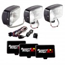 5-Inch x 7-Inch Halogen Fog Light Kit, Black Steel Housings
