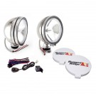 6-Inch Halogen Fog Light Kit, Stainless Steel Housings