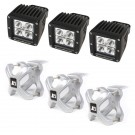 X-Clamp and LED Light Kit, Silver, 3-Pieces