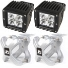 Small X-Clamp & Square LED Light Kit, Silver, 2-Pieces