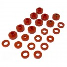 Body Mount Kit, Red, 22 Pieces, 76-79 CJ
