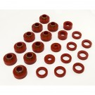 Body Mount Kit, Red, 22 Pieces, 80-86 CJ7