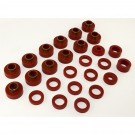 Body Mount Kit, Red, 26 Pieces, 81-86 CJ8