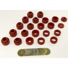 Body Mount Kit, Red, 22 Pieces, 87-95 YJ