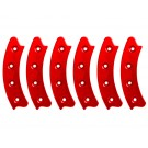"Beadlock Ring, Segmented 17"", Red (Set of 6)"