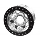"17"" Aluminum Beadlock Wheel, (8 on 170mm w/ 5.00"" BS), Black Segmented Ring"