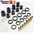 Front Control Arm Bushing Kit, Black, 84-01 Jeep Cherokee (XJ)