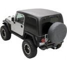 HARD TOP ONE PIECE - BLAC for 97-06 JEEP WRANGLER