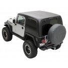 HARD TOP TWO PIECE - BLAC for 97-06 JEEP WRANGLER