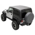 HARD TOP TWO PIECE BLK for 97-06 JEEP WRANGLER
