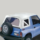 Soft Top, White Denim, Clear Windows, 95-98 Suzuki Sidekicks