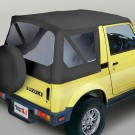 XHD Soft Top, Black Denim, Clear Windows, 81-98 Suzuki Samurais