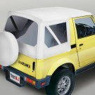 XHD Soft Top, White Denim, Clear Windows, 81-98 Suzuki Samurais
