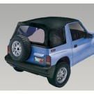XHD Soft Top, Black Denim, Clear Windows, 88-94 Suzuki Sidekicks