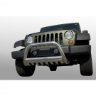3-Inch Stainless Steel Bull Bar, 07-09 Jeep Wrangler (JK)