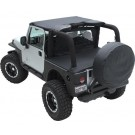 WIND BREAKER DIAMOND BLK for 07-12 WRANGLER JK 4DOOR
