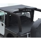 WIND BREAKER DIAMOND BLK for 07-12 WRANGLER JK 2DOOR