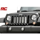 ROUGH COUNTRY JEEP 8-INCH VERTICAL LED GRILLE KIT (07-16 WRANGLER JK)