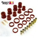 Front Control Arm Bushing Kit, Red, 84-01 Jeep Cherokee (XJ)